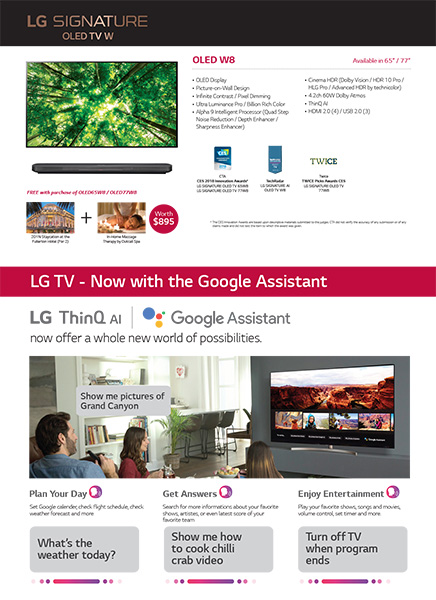 LG Home Entertainment promotion OLED TV