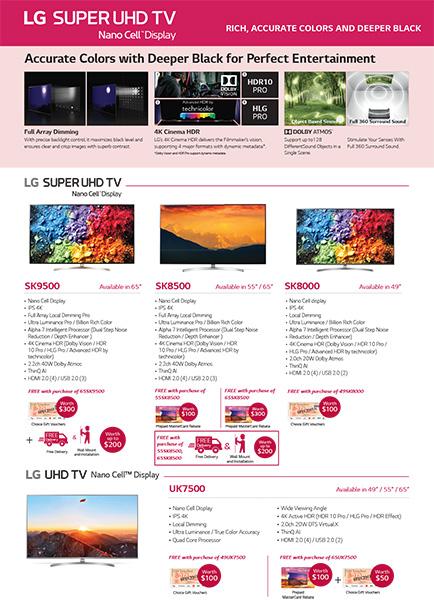 LG Home Entertainment promotion Super UHD TV