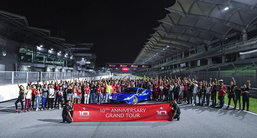 Ferrari owners gathered at the 10th Anniversary