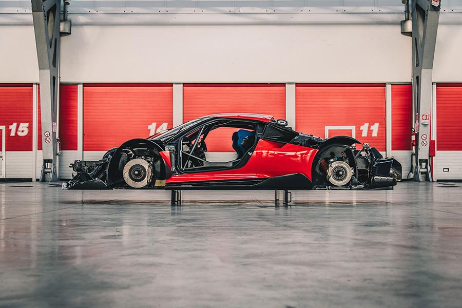 Body framework of the Ferrari P80/C