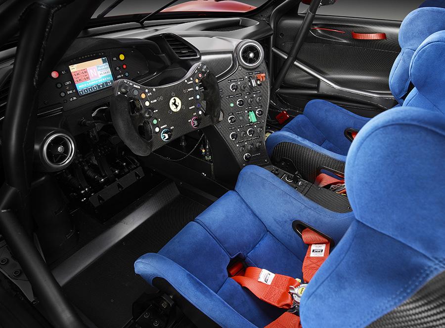 Interior of the Ferrari P80/C
