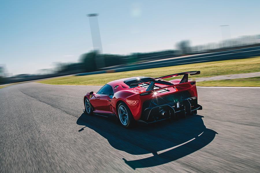 Ferrari P80/C on the road