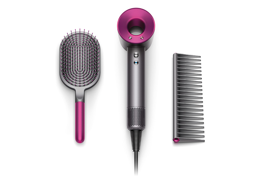 Dyson Supersonic hair dryer with attachments