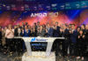 AMD celebrating 50 years in the semiconductor industry by ringing the Nasdaq bell
