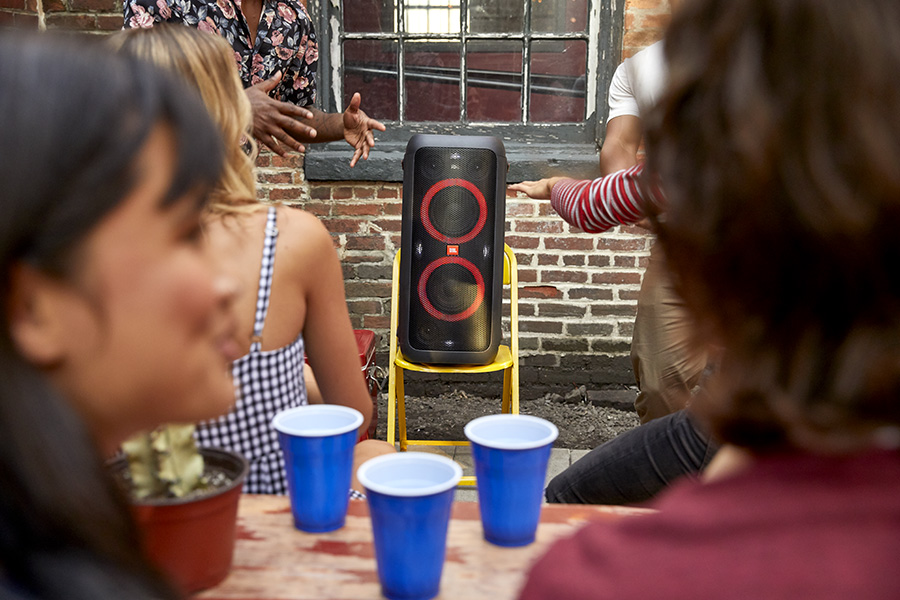 People having fun with the JBL Partybox Speakers