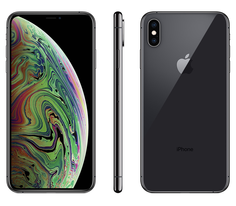 Apple iPhone Xs Max from front, side and back view