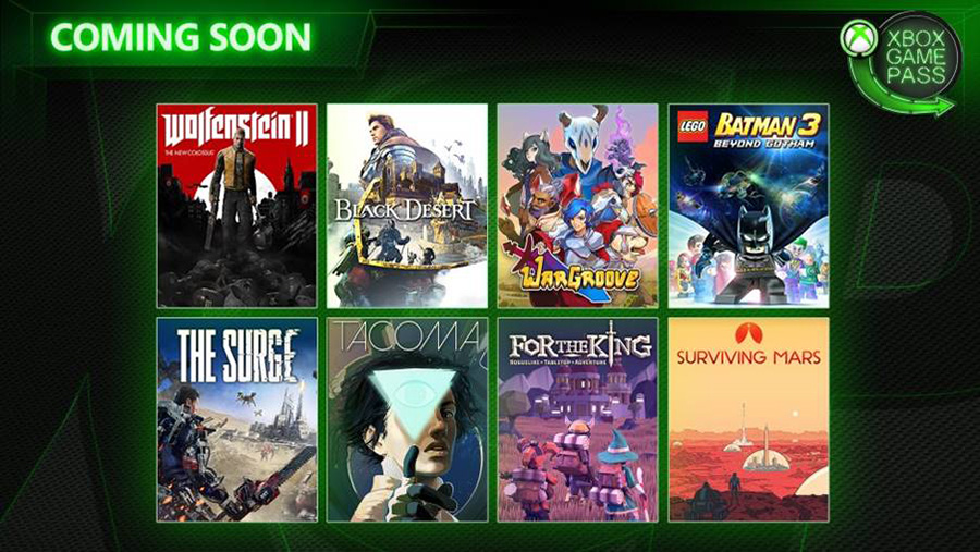 New games that Xbox Game Pass subscribers will receive