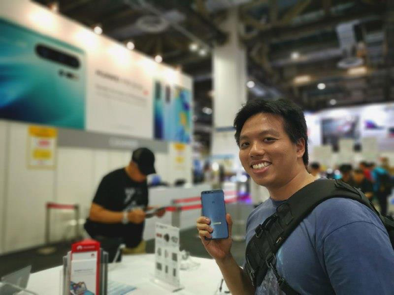 Mr Daniel Lim with his Huawei P10