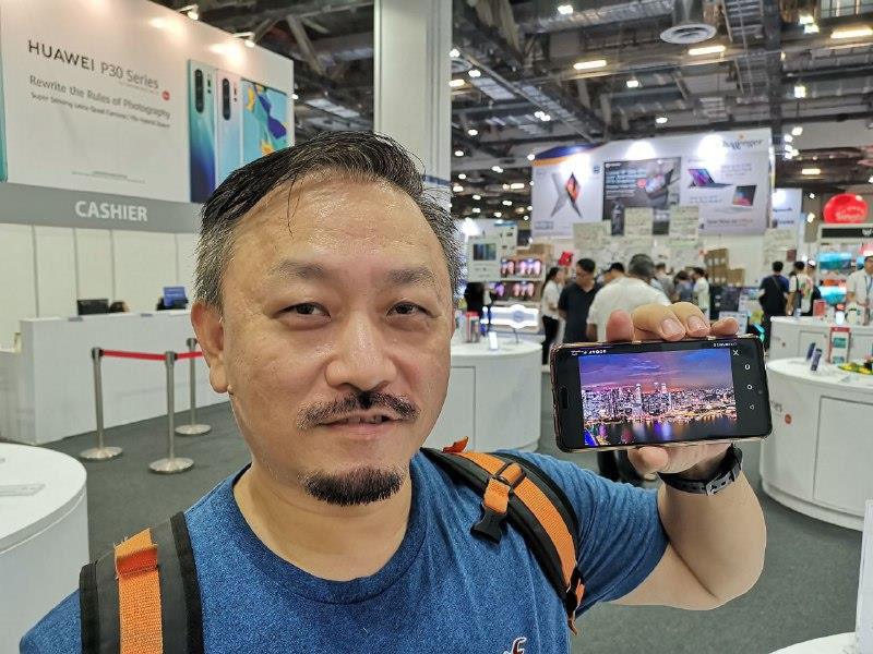 Mr. Wilson Ng with his Huawei P20 Pro