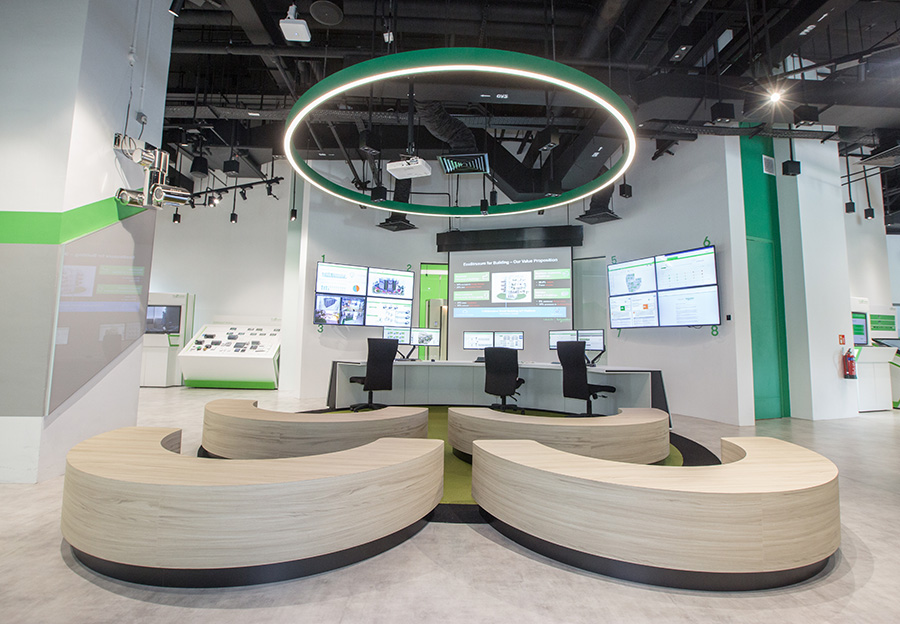 The Command Center area, level one of the Schneider Electric office building