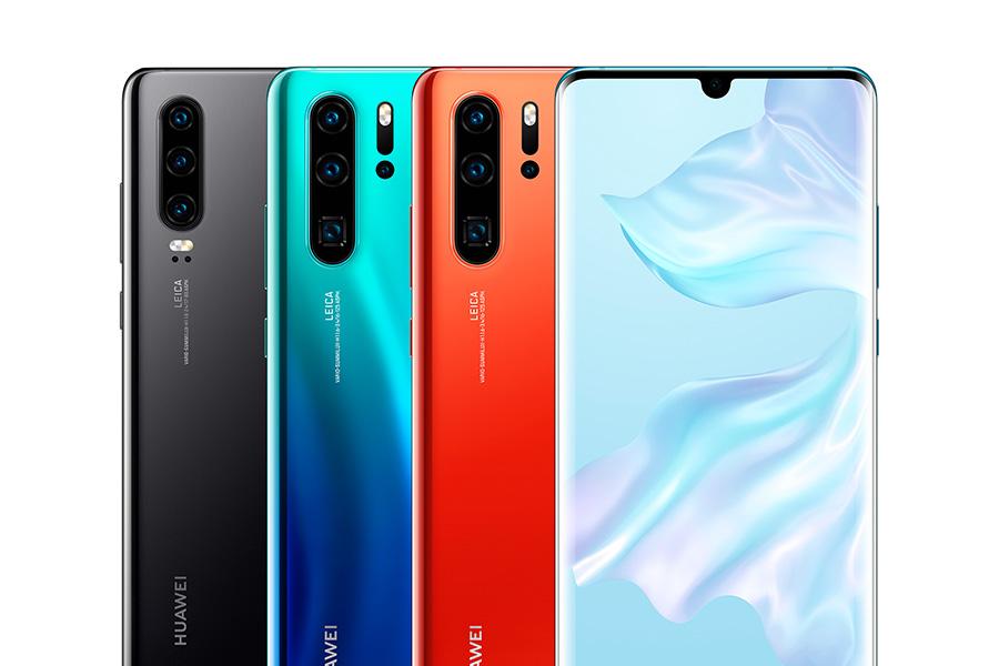 Huawei P30 series range of colours