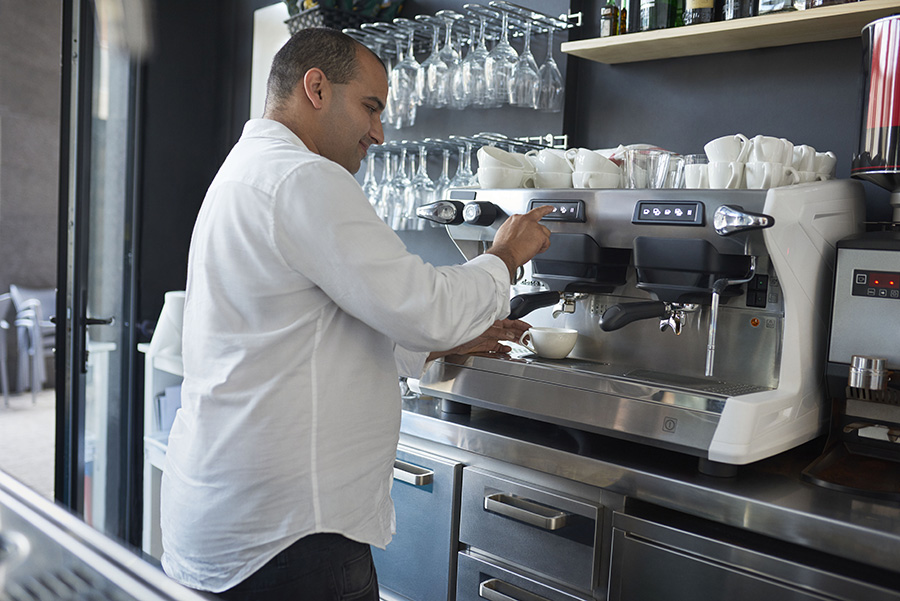 Barista in retail sector