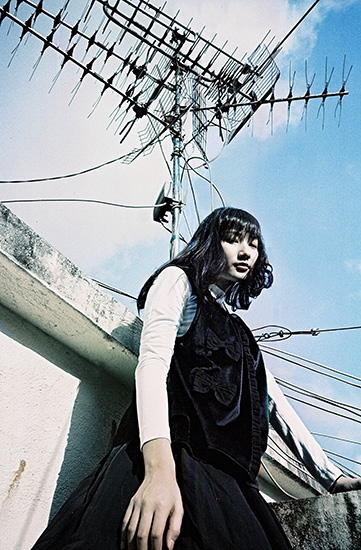 Photo of girl taken with LomoChrome Metropolis