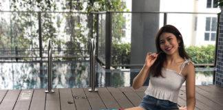 Natasha Lau with the Matador Ocean Pocket Blanket