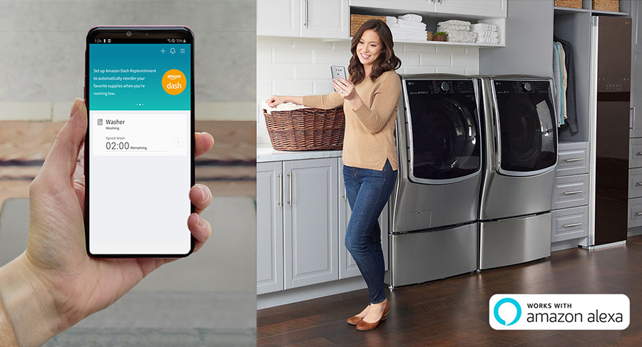 LG will introduce its ThinQ with Amazon Dash Replenishment
