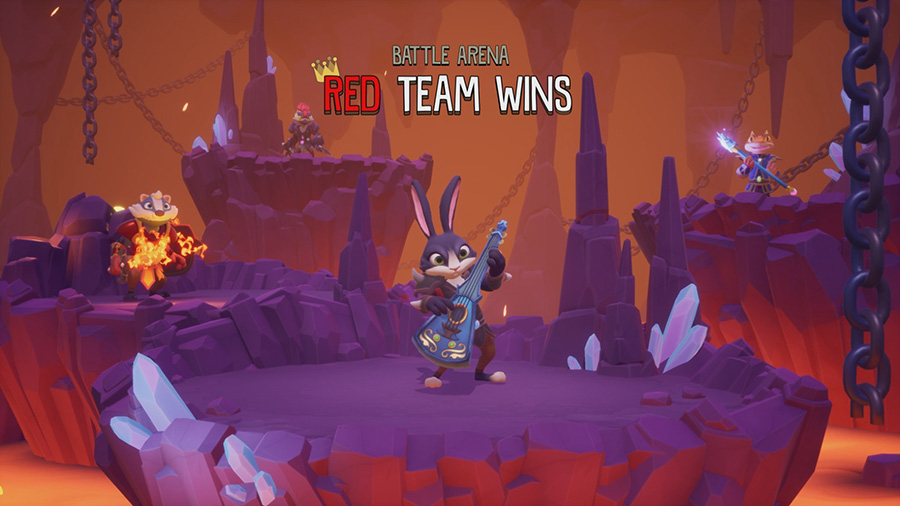 Winning screen in ReadySet Heroes