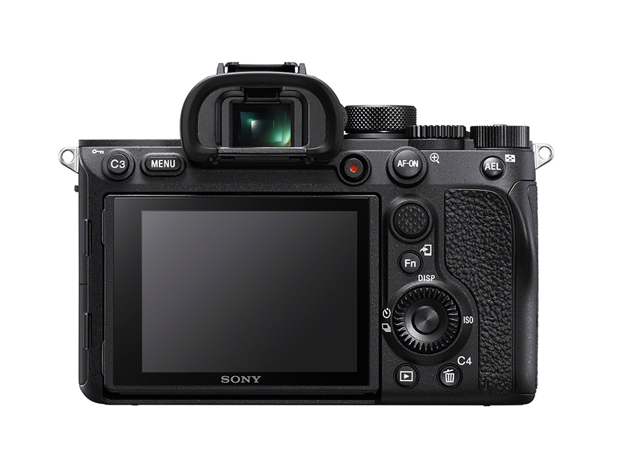 Back view of Sony Alpha 7R IV
