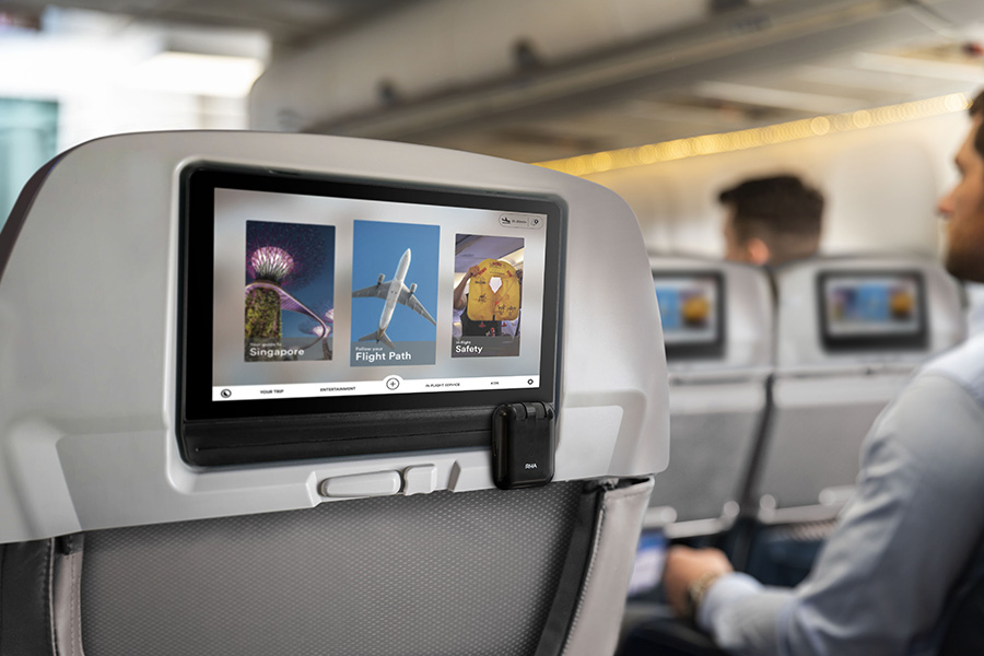 Using RHA Wireless Flight Adapter with the in-flight entertainment system on a plane