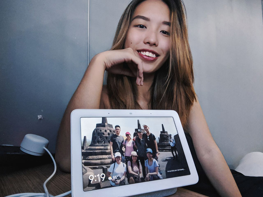 NXT Angel Zhimin with her Google Nest Hub
