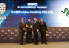 Chan Chun Sing presenting awards at the WIPO-IPOS Intellectual Property Awards 2019