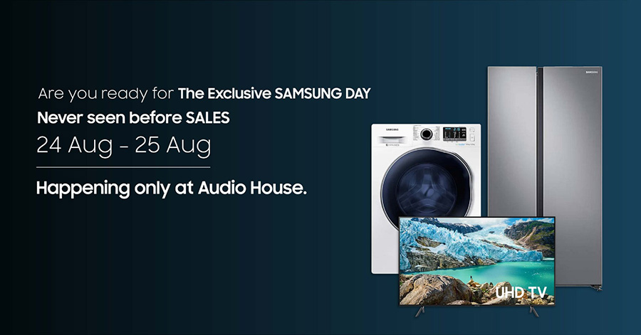 Samsung Day promotional ad at Audiohouse