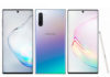Samsung Galaxy Note10 in Aura Black, Aura Glow, and Aura White