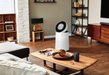 LG PuriCare Air Purifier in a room