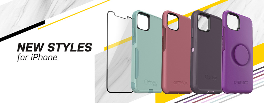 New styles of phone cases by Otterbox for the new iPhone 11 series