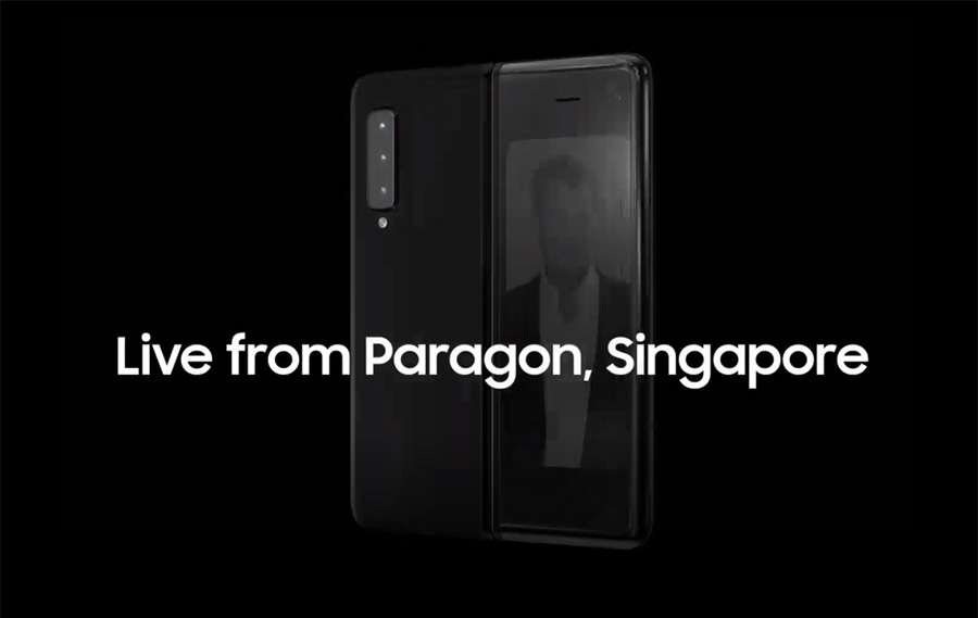 Launch of Samsung Galaxy Fold Live at Paragon, Singapore