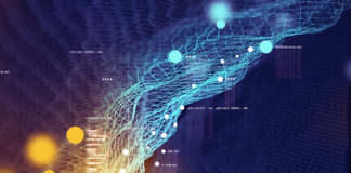3D Illustration depicting visual data and information of 5G