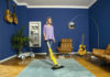 Woman using the Karcher SC 3 Upright EasyFix Steam Mop