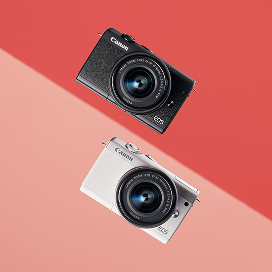 Canon EOS M200 in two colors