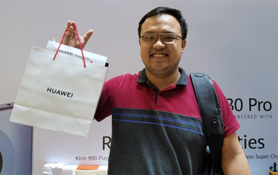 Mr Muhd Halim Irsyad at Huawei Mate 30 launch