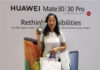 Ms Sherry Zheng at Huawei Mate 30 launch