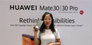 Ms Sherry Zheng at Huawei Mate 30 launch