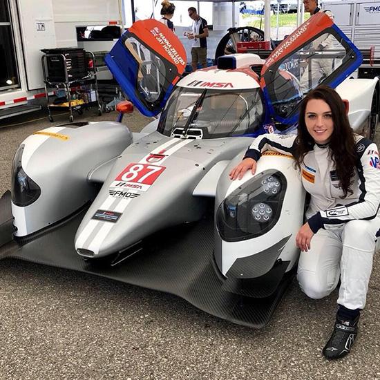 Hanna Zellers with her racecar