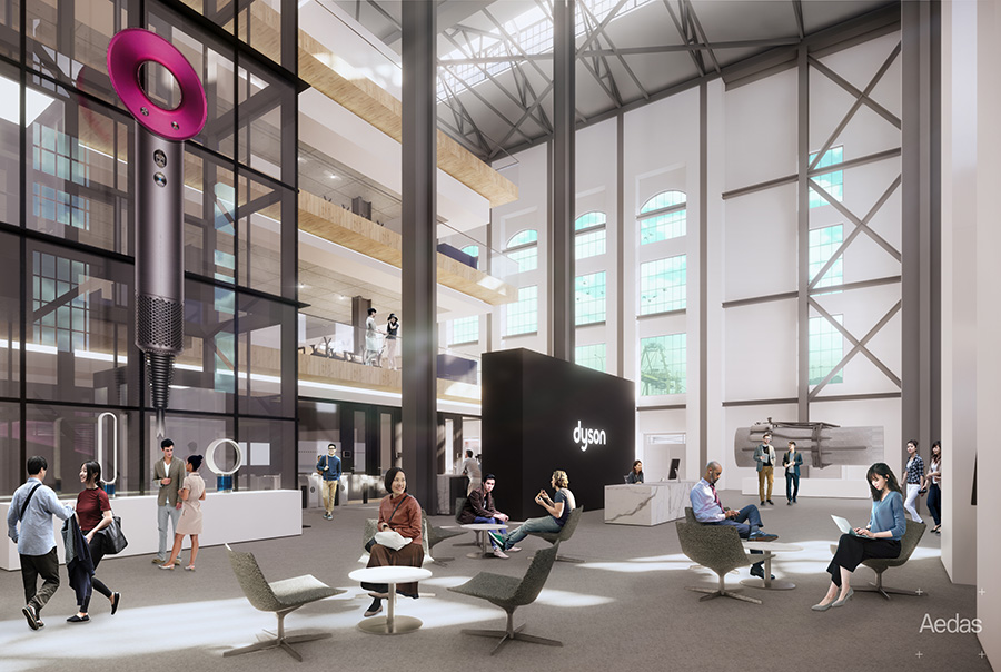 Dyson's new HQ at St James Power Station