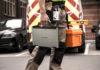 Man carrying Panasonic Toughbook 55