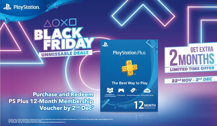 PS4 Black Friday membership 2-month promo poster