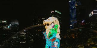 Merlion at the Marina Bay Singapore Countdown 2020