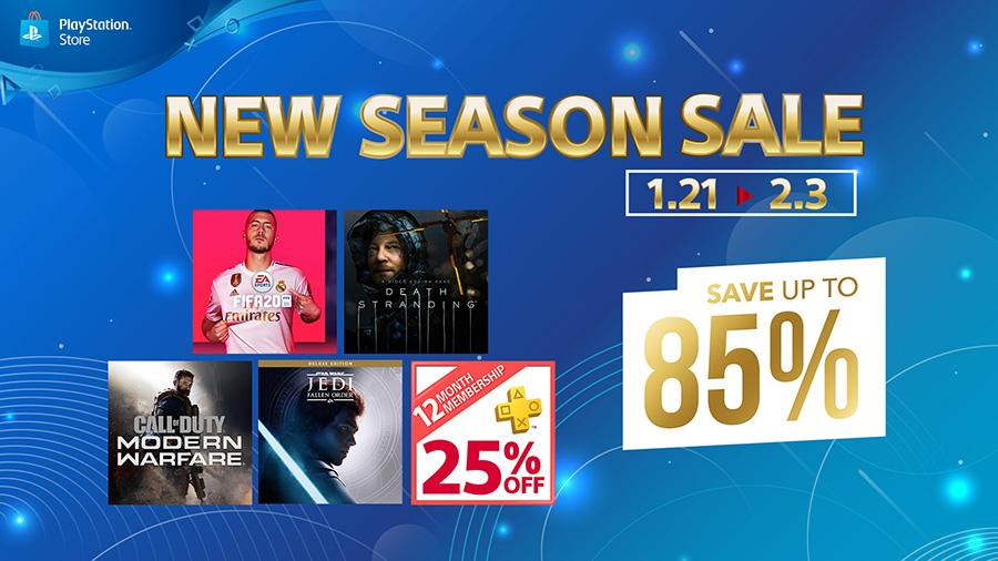 PlayStation Store New Season Sale