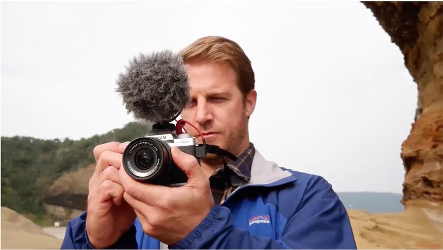 Man using the Fujifilm X-T200