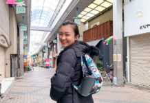 Han Yun in Japan with the Matador D16 bag