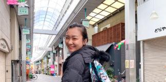 Han Yun in Japan with the Matador D16 bag