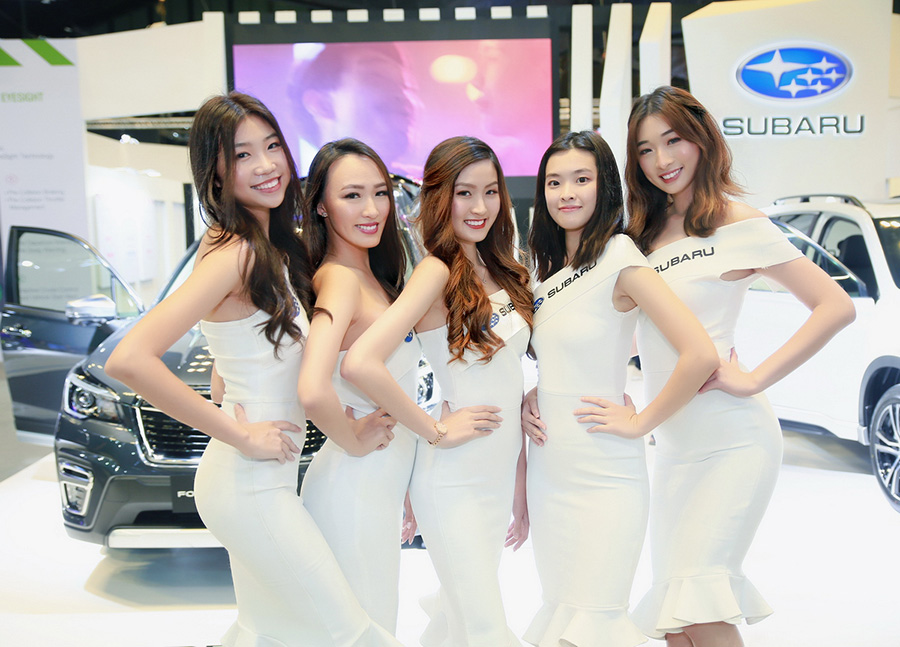 Models at Singapore Motorshow 2020