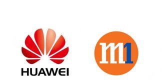 Huawei and M1 logos