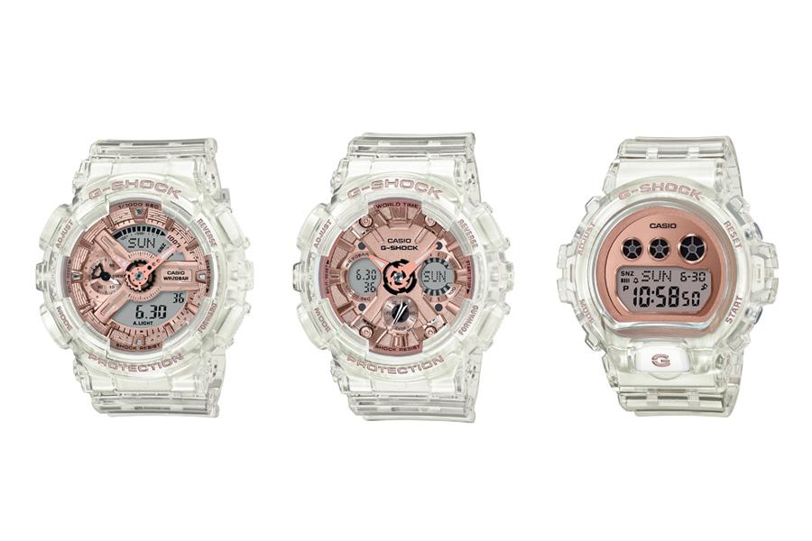 G-Shock Transparent x Rose Gold