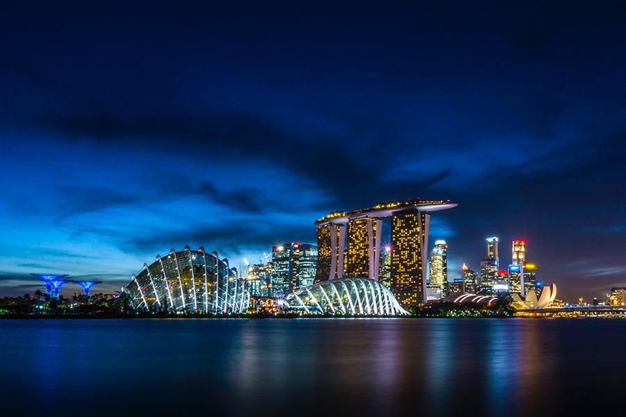 Cityscape of Singapore skyline