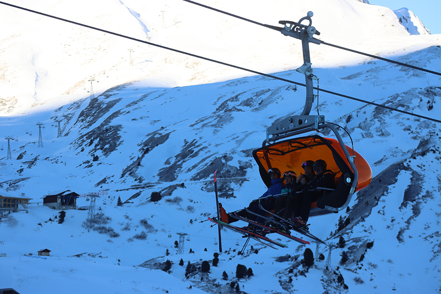 Chairlift photo taken with the Canon EOS M6 Mark II