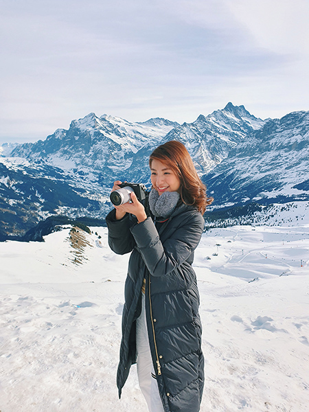 Vanessa in Switzerland, taken with the Canon EOS M6 Mark II